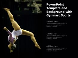Powerpoint Template And Background With Gymnast Sports