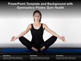 Powerpoint Template And Background With Gymnastics Pilates Gym Health