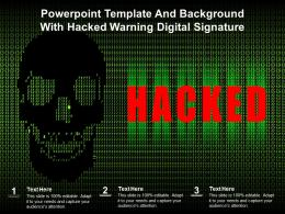 Powerpoint Template And Background With Hacked Warning Digital Signature
