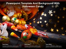 Powerpoint Template And Background With Halloween Candy