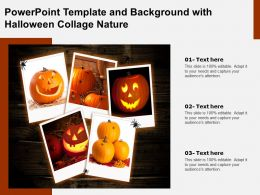 Powerpoint Template And Background With Halloween Collage Nature