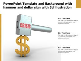 Powerpoint Template And Background With Hammer And Dollar Sign With 3d Illustration