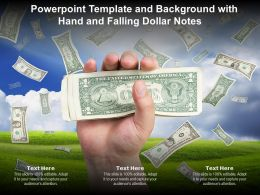 Powerpoint Template And Background With Hand And Falling Dollar Notes