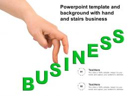 Powerpoint Template And Background With Hand And Stairs Business