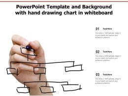 Powerpoint Template And Background With Hand Drawing Chart In Whiteboard