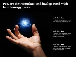 Powerpoint Template And Background With Hand Energy Power