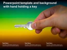 Powerpoint Template And Background With Hand Holding A Key