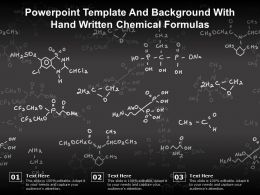 Powerpoint Template And Background With Hand Written Chemical Formulas