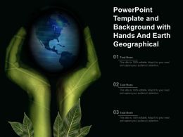 Powerpoint Template And Background With Hands And Earth Geographical