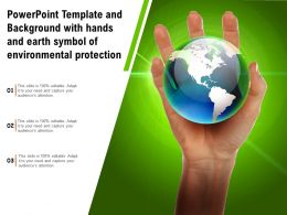 Powerpoint Template And Background With Hands Earth Symbol Of Environmental Protection