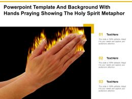 Powerpoint Template And Background With Hands Praying Showing The Holy Spirit Metaphor
