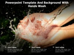 Powerpoint Template And Background With Hands Wash