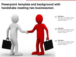 Powerpoint Template And Background With Handshake Meeting Two Businessmen