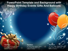Powerpoint Template And Background With Happy Birthday Events Gifts And Balloons