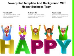 Powerpoint Template And Background With Happy Business Team