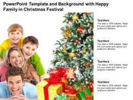 Powerpoint Template And Background With Happy Family In Christmas Festival