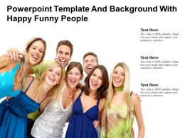 Powerpoint Template And Background With Happy Funny People