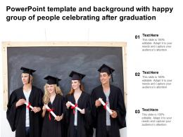Powerpoint Template And Background With Happy Group Of People Celebrating After Graduation