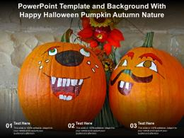Powerpoint Template And Background With Happy Halloween Pumpkin Autumn Nature