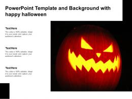 Powerpoint Template And Background With Happy Halloween