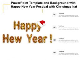 Powerpoint Template And Background With Happy New Year Festival With Christmas Hat