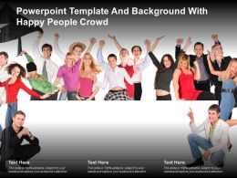 Powerpoint Template And Background With Happy People Crowd