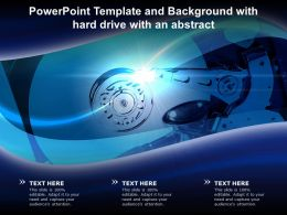 Powerpoint Template And Background With Hard Drive With An Abstract
