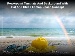 Powerpoint Template And Background With Hat And Blue Flip Flop Beach Concept
