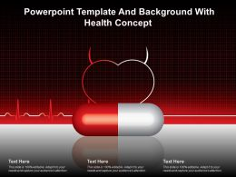 Powerpoint Template And Background With Health Concept