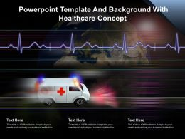 Powerpoint Template And Background With Healthcare Concept