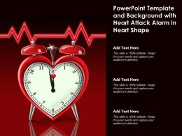 Powerpoint Template And Background With Heart Attack Alarm In Heart Shape