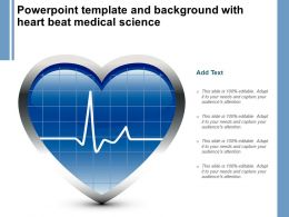 Powerpoint Template And Background With Heart Beat Medical Science
