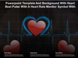 Powerpoint Template And Background With Heart Beat Pulse With A Heart Rate Monitor Symbol