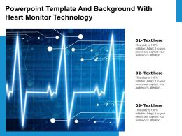 Powerpoint Template And Background With Heart Monitor Technology