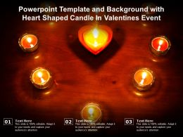 Powerpoint Template And Background With Heart Shaped Candle In Valentines Event