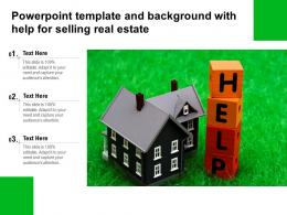 Powerpoint Template And Background With Help For Selling Real Estate