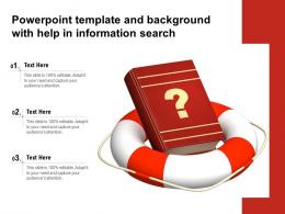 Powerpoint Template And Background With Help In Information Search