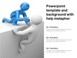 Powerpoint Template And Background With Help Metaphor