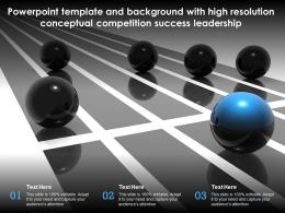 Powerpoint Template And Background With High Resolution Conceptual Competition Success Leadership