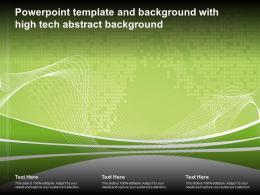 Powerpoint Template And Background With High Tech Abstract Background