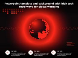 Powerpoint Template And Background With High Tech Retro Wave For Global Warming