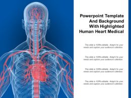 Powerpoint Template And Background With Highlighted Human Heart Medical