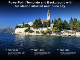 Powerpoint Template And Background With Hill Station Situated Near Pune City