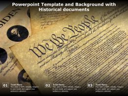Powerpoint Template And Background With Historical Documents