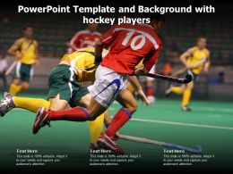 Powerpoint Template And Background With Hockey Players