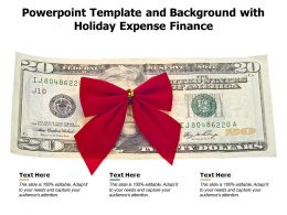 Powerpoint Template And Background With Holiday Expense Finance