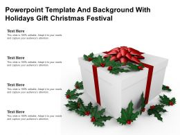 Powerpoint Template And Background With Holidays Gift Christmas Festival