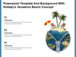 Powerpoint Template And Background With Holidays Vacations Beach Concept