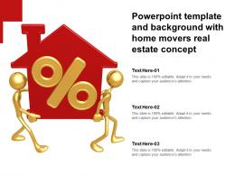 Powerpoint Template And Background With Home Movers Real Estate Concept