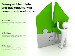 Powerpoint Template And Background With Home Puzzle Real Estate
